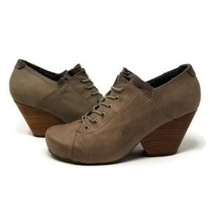 Anthropologie OTBT Rockdale Wedge Shootie Taupe 8